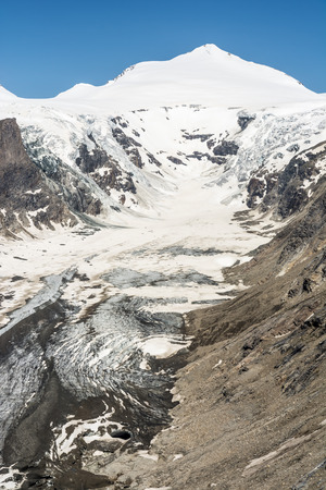 hochalpenstrasse: The Pasterze, the longest glacier of Austria at the Grossglockner group mountains