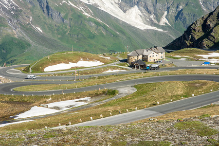 Mountain pass of the Grossglockner High Alpine Road in Austria. Stock Photo