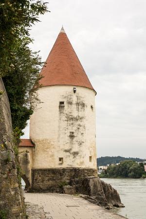 The Scheiblingstower at the Inn promenade in Passau