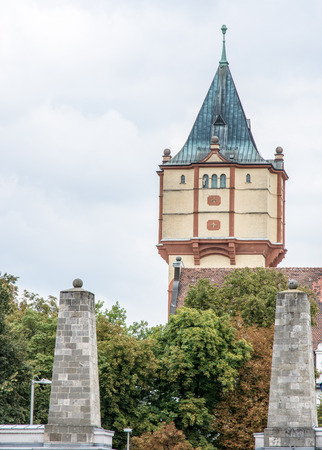 the water tower: Historic water tower of Straubing (Bavaria)