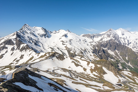 Panoramic view of the Hohe Tauern mountain range in Austria photo