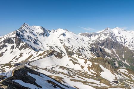 Panoramic view of the Hohe Tauern mountain range in Austria photo