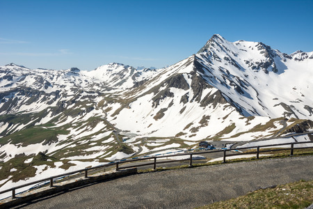 Panoramic view of the Hohe Tauern mountain range photo