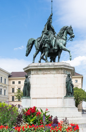 sceptre: Equestrian statue of King Ludwig I in Munich, built 1862