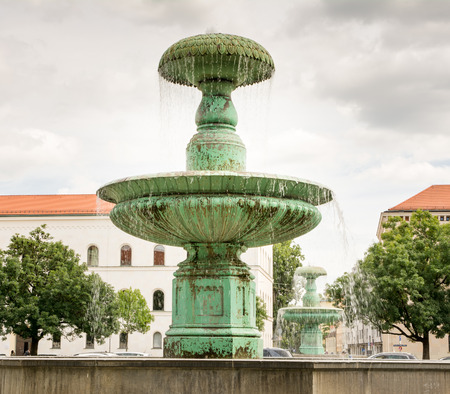 university fountain: Fountain at the Ludwig Maximilian University of Munich. Editorial