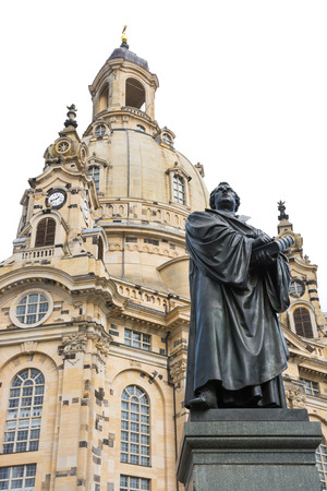adolf: Bronce Statue of Martin Luther in Dresden, built by Adolf von Donndorf in 1885. Editorial