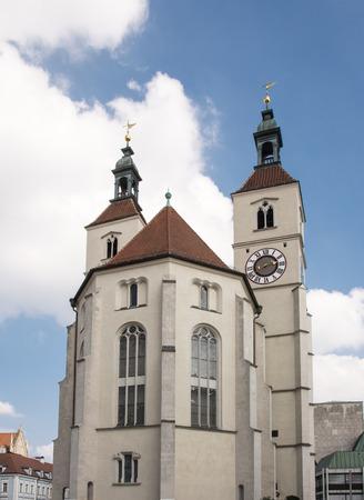 regensburg: The Neupfarrkirche in Regensburg (Bavaria, Germany)