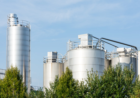 chemical plant: Storage tanks of a chemical plant