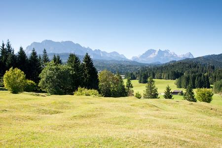 idyllic: Idyllic landscape in the Karwendel Mountains.