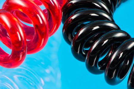 scrunchy: Abstract macro of two elastic hair ties