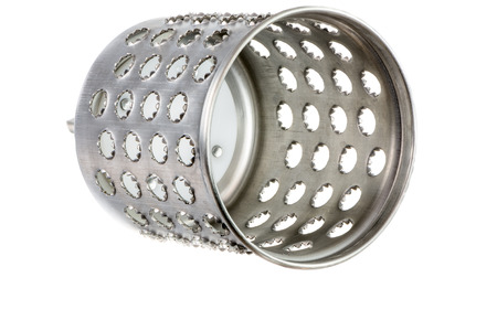 rustproof: Isolated cylindric drum grater (rotary cheese grater)