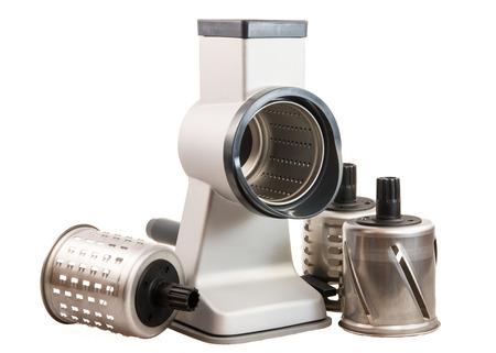 crank: Rallador tambor cil�ndrico aislado (rotatorio rallador de queso) con una manivela y accesorios