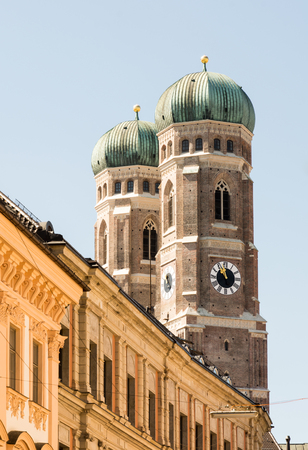 frauenkirche: The towers of the Frauenkirche in Munich.