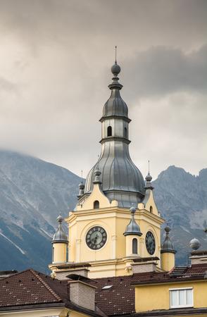 historic: Historic tower in Innsbruck (Austria) Stock Photo