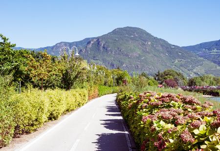 bikeway: Bikeway in Bolzano (South Tyrol, Italy)