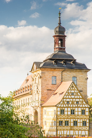 rathaus: Altes Rathaus the historic town hall in Bamberg Stock Photo