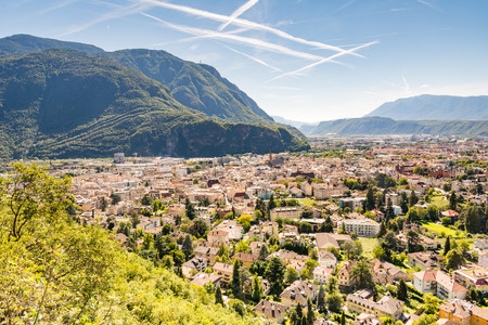 tyrol: View over the city of Bolzano (Sout Tyrol, Italy) Stock Photo