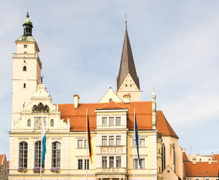 old town hall: Historic old town hall of Ingolstadt (Bavaria, Germany)