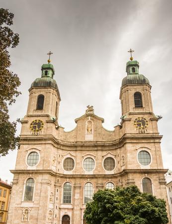 innsbruck: The Cathedral of Innsbruck (Tyrol, Austria) Stock Photo