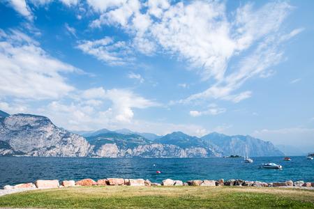 lake front: Water front of Lake Garda (Italy)