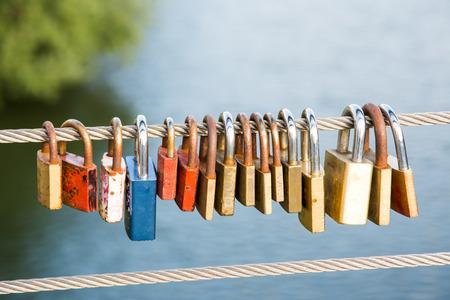 rustiness: Love locks as symbol for everlasting love