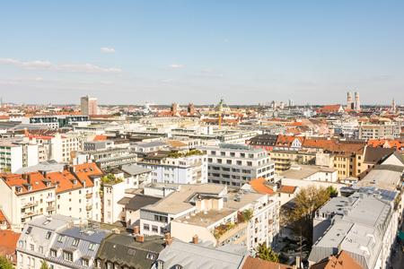 munich: Munich cityscape - aerial view over Munich (Bavaria, Germany)