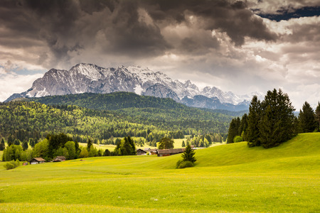 Karwendel mountains in the alps of Bavaria (Germany)