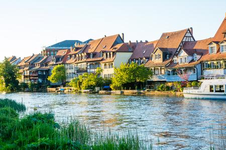 Fishermens houses from the 19th century in Klein-Venedig (Little Venice) in Bamberg.