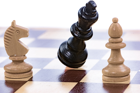 Checkmate - Game of chess with a falling king
