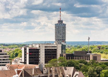 アウグスブルク, ドイツ - 5 月 20 日: 2017 年 5 月 20 日のドイツ、アウグスブルク市の景色アウクスブルクはドイツの最古の都市の一つです。Augsburger Ho