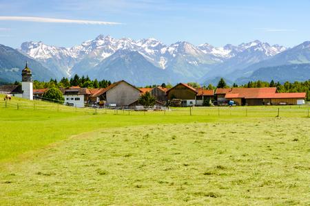 Village Agathazell in the Allgäu (Bavaria, Germany) Stock Photo