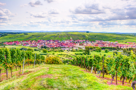 Village of Nordheim in a wine-growing district in Franconia (Germany) Stock Photo