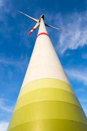 Alternative energy creation with wind power Stock Photo