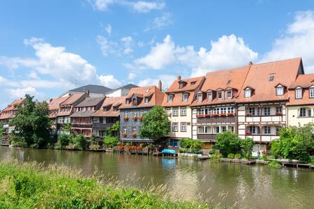 Fishermen's houses from the 19th century in Klein-Venedig (Little Venice) in Bamberg. Stock Photo - 105830762