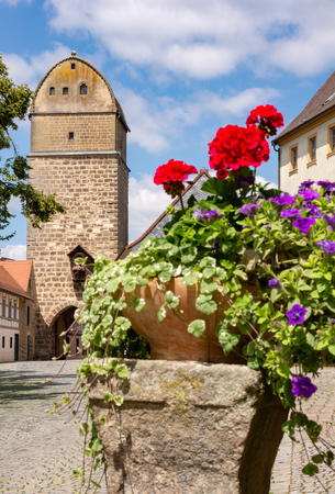Historic city gate of Sesslach (Franconia, Germany)
