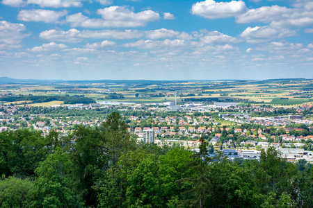 Aerial view over Coburg (Franconia, Germany)