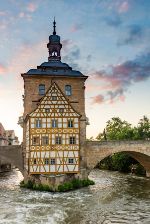 Historic town hall of Bamberg (Franconia, Germany) 스톡 콘텐츠