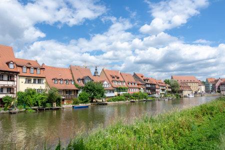 BAMBERG, GERMANY - JUNE 19: Fishermens houses from the 19th century in Klein-Venedig (Little Venice) in Bamberg, Germany on June 19, 2018. Editorial