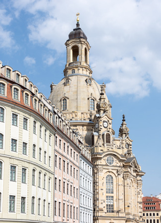Houses in Dresden and the Frauenkirch