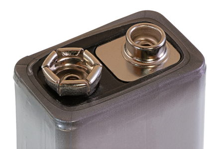 Closeup of an isolated rechargable battery block