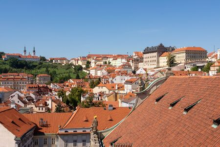 Aerial view over the city of Prague (Czech Republic) 스톡 콘텐츠