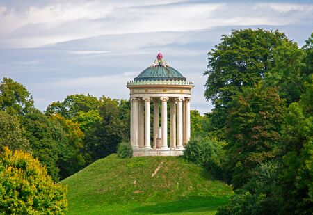 Monopteros temple (built 1836) in the english garden of Munich