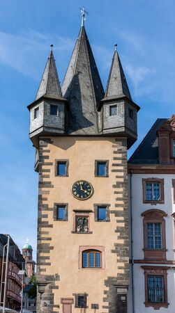 Historic tower called Renteturm in Frankfurt (Germany)