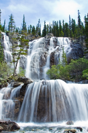 Tangle Falls in Jasper National Park, Alberta, Canada  photo