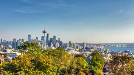 Seattle Skyline Panorama from Kerry Park Stock Photo - 16344345