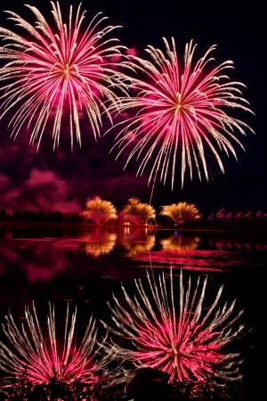 Winning Fireworks by USA in Globalfest Fireworks Festival 2012, Calgary, Alberta, Canada Stock Photo - 16347914