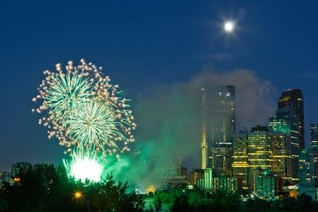 2012 Canada day fireworks, Calgary  Stock Photo - 16347915