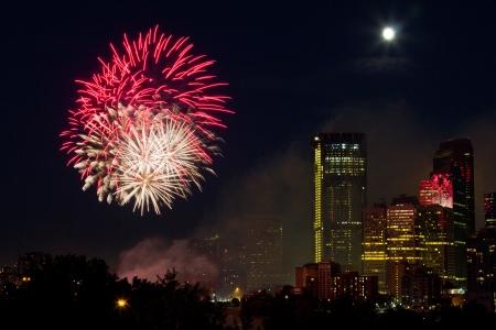 2012 Canada day fireworks, Calgary  Stock Photo - 16347916