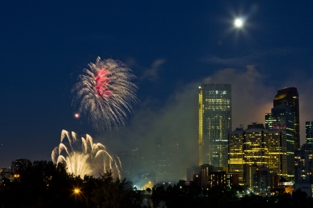 2012 Canada day fireworks, Calgary  Stock Photo - 16347913