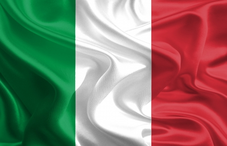 italien flagge: Winken Fabric Flag of Italy Lizenzfreie Bilder